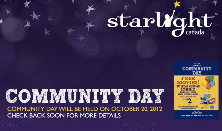 cineplex movies 730x433 Cineplex Community Day: Free Movies + Discounted Concession