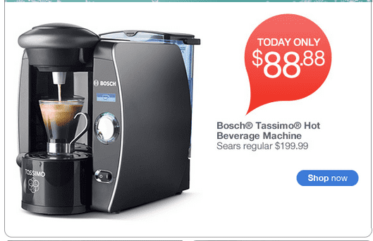 Sears Offer: USD 88.88 for a Tassimo Hot Beverage Machine - TODAY ONLY! - Hot Canada Deals Hot ...