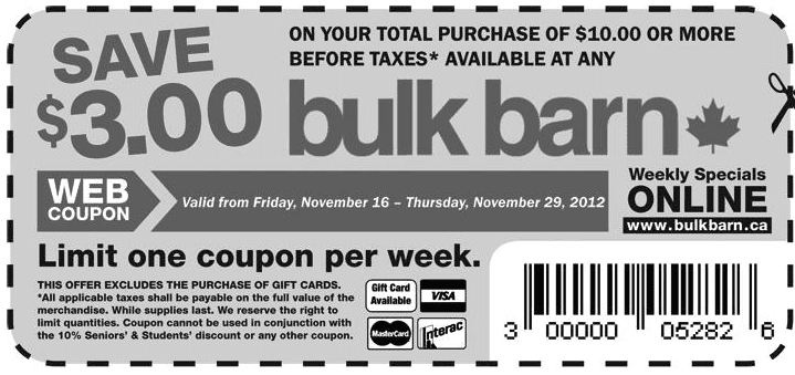 Screen Shot 2012 11 16 at 12.05.16 PM  Bulk Barn Coupon: Save $3 off Your Total Purchase of $10