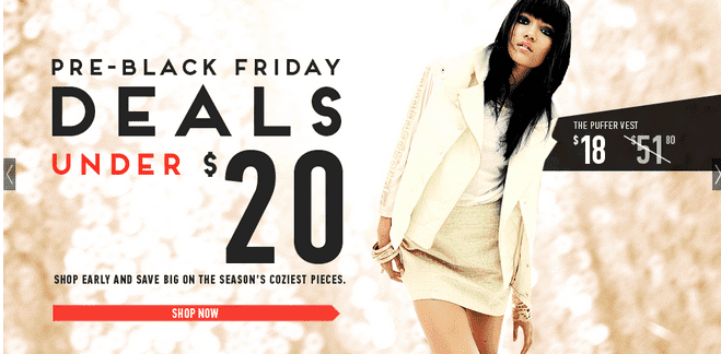 Screen Shot 2012 11 19 at 3.37.54 PM Black Friday Started Now: Forever 21   Deals Under $20