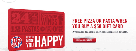 Screen Shot 2012 11 20 at 5.00.51 AM Boston Pizza Offer: Free Pizza Or Pasta When You Buy A $50 Gift Card