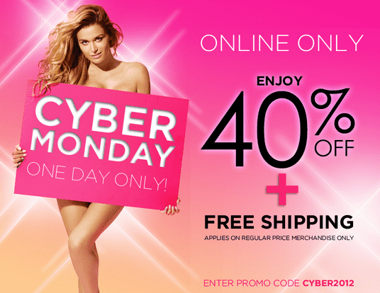 Screen Shot 2012 11 26 at 3.09.37 PM1 La Vie en Rose Cyber Mondays Offer: 40% Off   Online Now