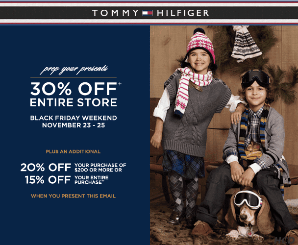 tommy hilfiger black friday weekend sale 30 15 off. Black Bedroom Furniture Sets. Home Design Ideas