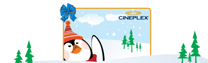 cineplex 730x224 Cineplex: Holiday Gift Card Offers