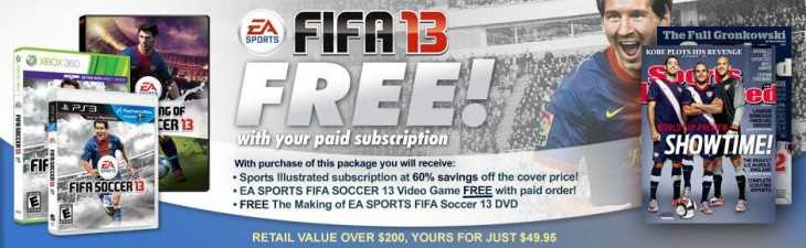 fifasportsillustratd 730x225 Sports Illustrated: Free FIFA 13 With Paid Subscription