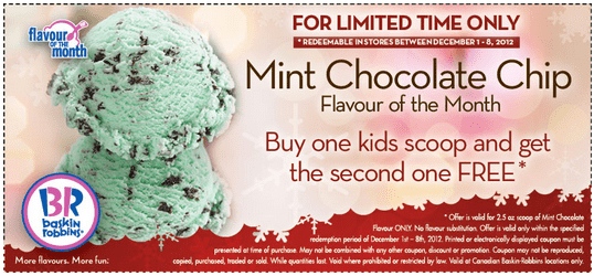 Baskin Robbins Mint Chocolate Chip Ice Cream  Oz Scoop