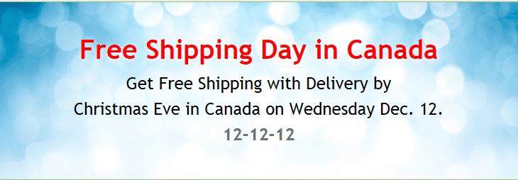 freeshipping Free Shipping Day in Canada December 12th