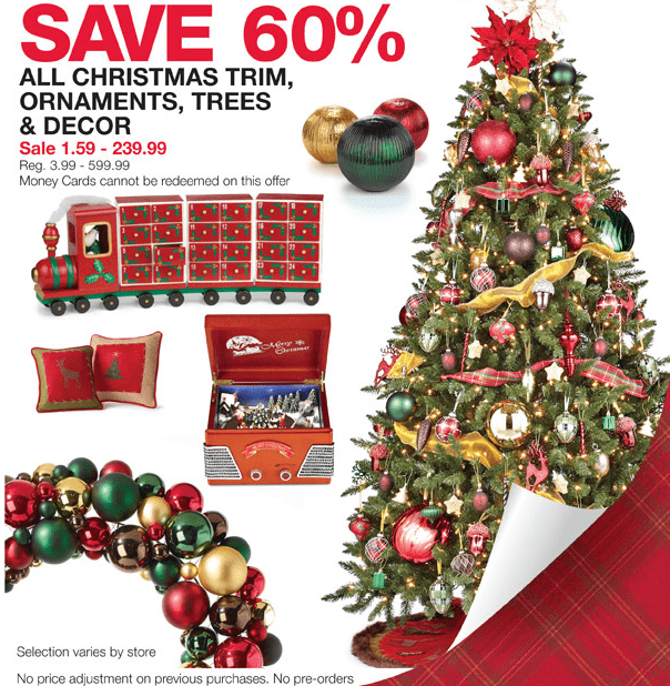 Home outfitters save 60 off all christmas ornaments for Christmas decorations home bargains