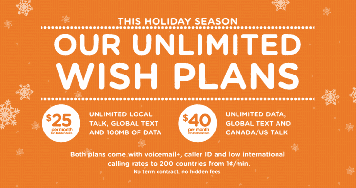 How do you get a Wind Mobile unlimited phone and data plan?