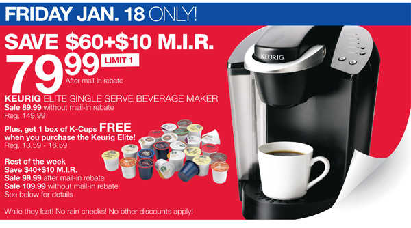 Home Outfitters: Keurig Elite for USD 79.99 - Hot Canada Deals Hot Canada Deals