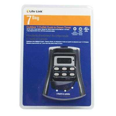 LifeLink726881Clamshell 4 Home Depot: Life Link 3 Outlet Timer for $4