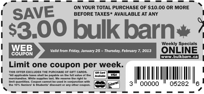 Screen Shot 2013 01 31 at 12.50.27 AM Bulk Barn Coupon: Save $3 Off $10 Or More Printable Coupon!