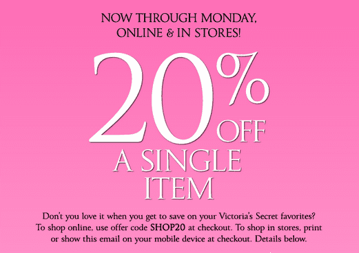 Coupon codes victoria secret