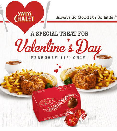 Capture 31 Swiss Chalet Freebie For Valentine's Day: Free Box Of Lindor Chocolates