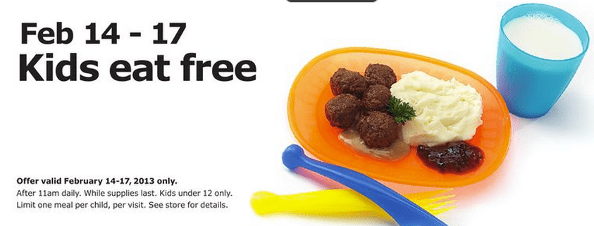 Ikea archives hot canada deals hot canada deals for Ikea free kids meal