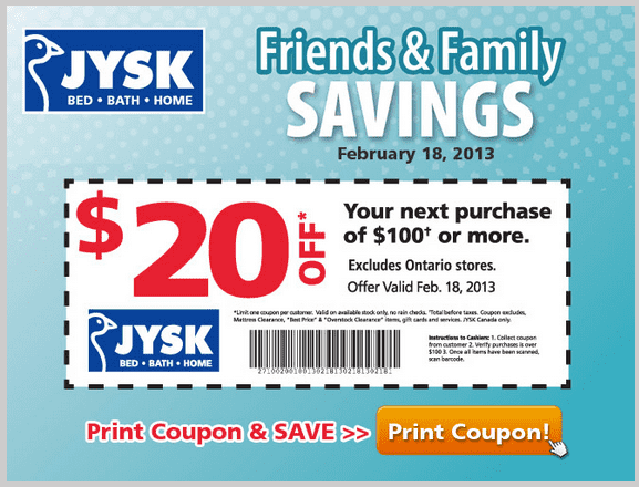 We have 18 Jysk Canada coupons for you to choose from including 17 sales, and 1 free shipping promotional code. Most popular now: % Off All Memory Foam .