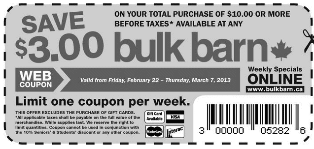 Screen Shot 2013 02 22 at 10.36.11 AM  Bulk Barn Coupon: Save $3 Of Your Total Purchase Of $10