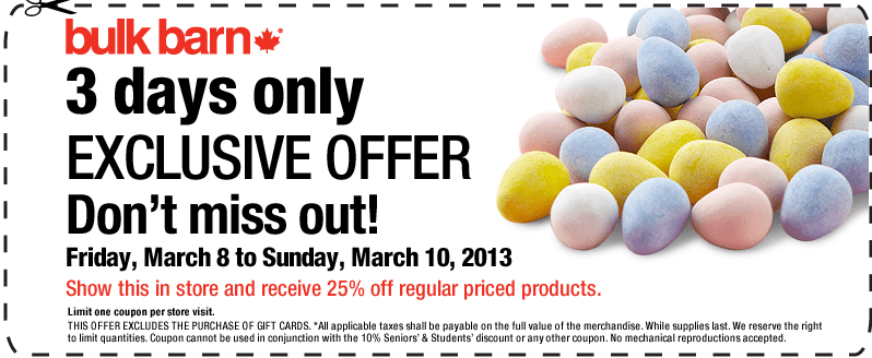 Screen Shot 2013 03 09 at 12.59.33 AM Bulk Barn Coupon: Save 25% On All Regular Priced Products.