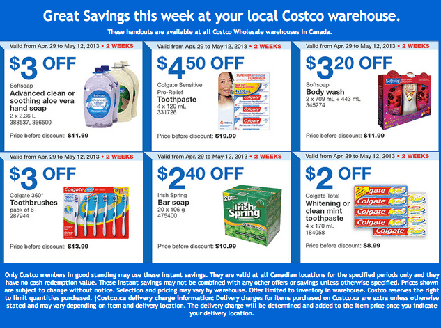 Costco Canada Wholesale: Weekly Handout Coupons - Hot ...
