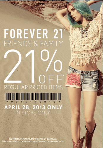 Forever 21 discount coupon