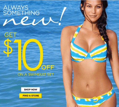 La Vie en Rose La Vie en Rose Canada Deals: Get $10 Off A Swimsuit Set