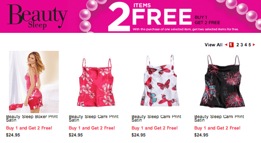 Screen Shot 2013 04 03 at 7.21.40 AM La Vie en Rose Canada Offer: Buy 1 Item Get 2  Free From Beauty Sleep!