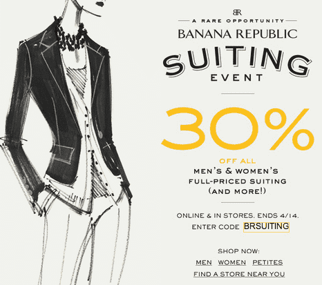 Banana Republic Offers Modern, Refined Clothing for Men and Women, Plus Shoes and Accessories. Skip to top navigation Skip to shopping bag Skip to main content Skip to footer links. Shop Our Sister Brands: Gap Old Navy Banana Republic Athleta Hill City. Shop Our Brands.