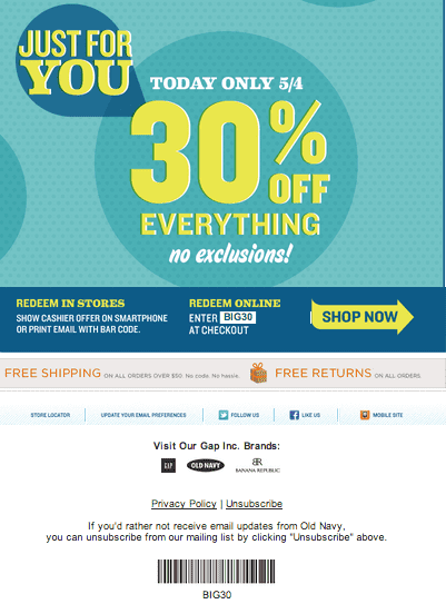photo relating to Old Navy Printable Coupon titled Outdated armed forces coupon codes in just retail outlet printable : Ninja cafe nyc