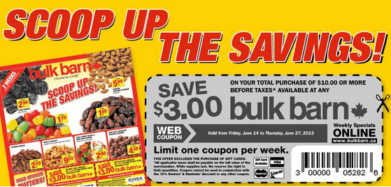 Bulk Barn Coupon Bulk Barn Canada Printable Coupons: Save $3 off $10 purchase