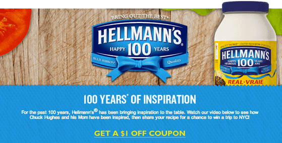 Hellmanns Canada Hellmann's Canada & SmartSource.ca Printable Coupons: Save $1 on Hellmann's Mayonnaise
