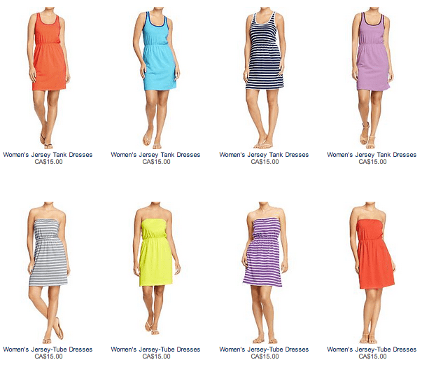 Old Navy Canada offer Old Navy Sale: Women's Dresses Starting at $15 + 15% of Your Purchase