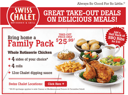 Swiss Swiss Chalet Take Out Offer