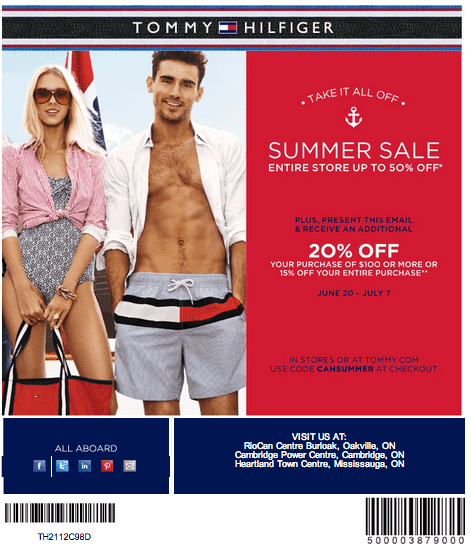 tommy hilfiger canada coupons summer sale up to 50 off entire store additional 20 hot. Black Bedroom Furniture Sets. Home Design Ideas