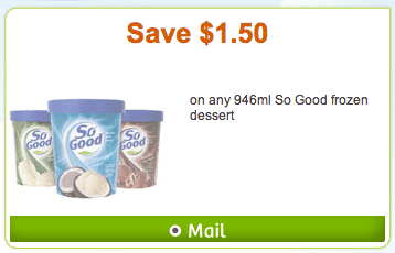 WebSaver.ca . WebSaver.ca. Coupons For So Good Frozen Dessert: Save $1.50