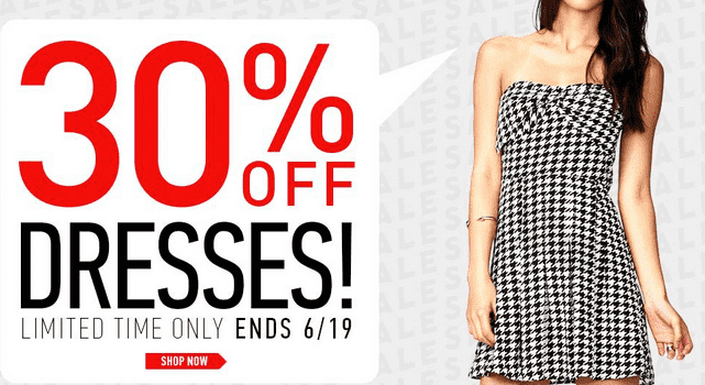 forever21 Deal Forever 21 Canada Offers: Save 30% on Select Dresses!