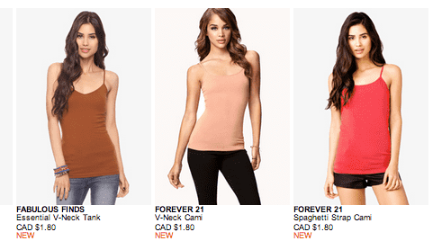 forever21 Sale Forever 21 Canada Sale: Tees & Tanks Starting At Just $1.80!