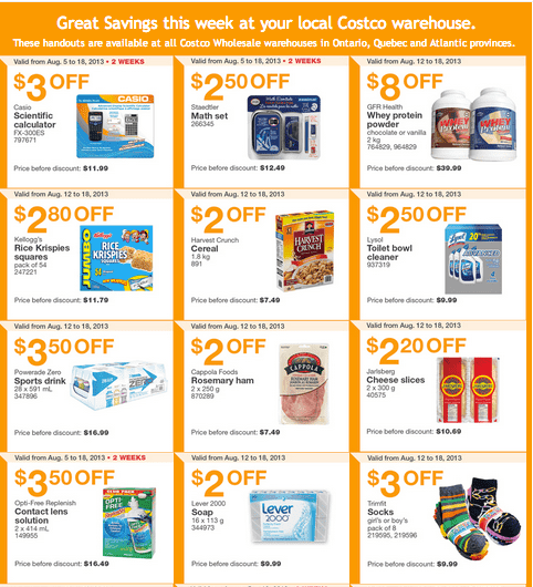 Screen Shot 2013 08 12 at 10.12.44 AM Costco Canada Eastern Weekly Instant Handouts: (Ontario, Quebec & Atlantic) August 12 to August 18, 2013