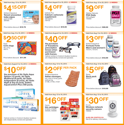 Screen Shot 2013 08 12 at 10.13.20 AM Costco Canada Eastern Weekly Instant Handouts: (Ontario, Quebec & Atlantic) August 12 to August 18, 2013