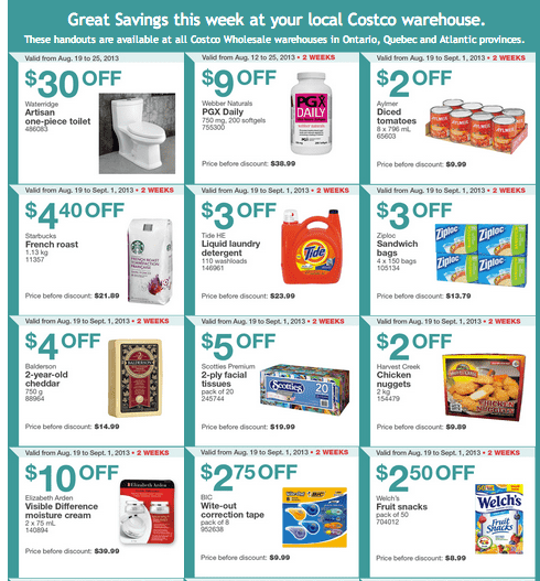 Screen Shot 2013 08 20 at 1.32.31 AM Costco Canada Eastern Weekly Instant Handouts: (Ontario, Quebec & Atlantic) August 19 to August 25, 2013