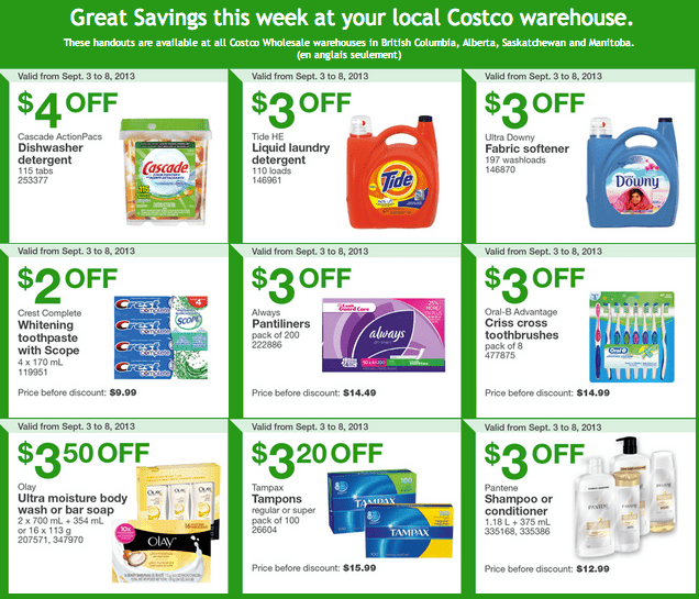 British Columbia Costco Alberta Saskatchewan and Manitoba. Costco Canada Western Weekly Instant Handouts: British Columbia, Alberta, Saskatchewan & Manitoba, September 3 to 8, 2013
