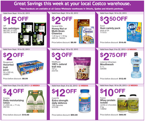 C11 Costco Canada Eastern Weekly Instant Handouts: Ontario, Quebec & Atlantic, September 16 to 22, 2013