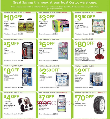 C12 Costco Canada Western Weekly Instant Handouts: British Columbia, Alberta, Saskatchewan & Manitoba, September 23 to 29, 2013