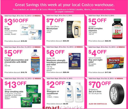 C13 Costco Canada Western Weekly Instant Handouts: British Columbia, Alberta, Saskatchewan & Manitoba, September 30 to October 6, 2013