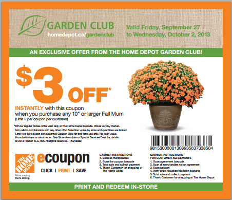The home depot garden club printable coupons get 3 off - Home depot garden center coupons ...