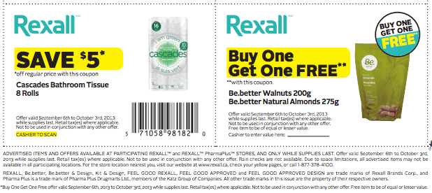 Rexall pharmaplus new printable coupons hot canada for Gardening naturally coupon