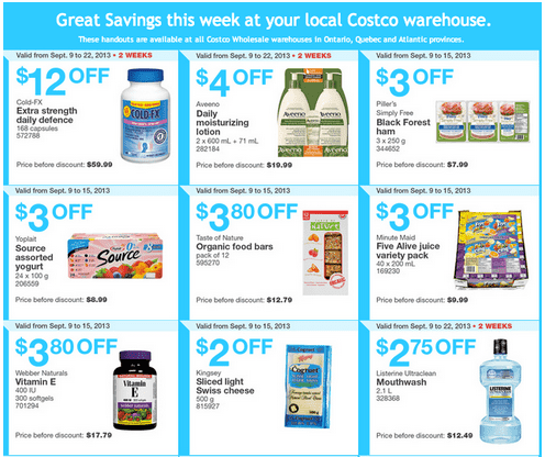 c21 Costco Canada Eastern Weekly Instant Handouts: Ontario, Quebec & Atlantic, September 9 to 15, 2013