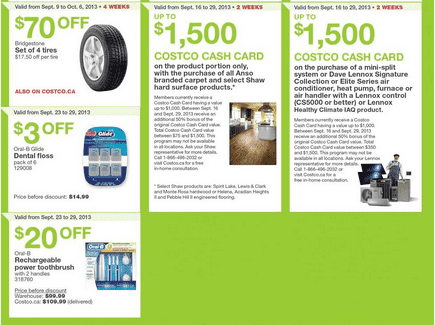 c23 Costco Canada Western Weekly Instant Handouts: British Columbia, Alberta, Saskatchewan & Manitoba, September 23 to 29, 2013
