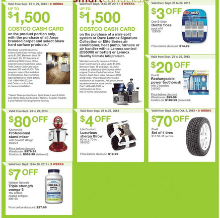 c41 Costco Canada Eastern Weekly Instant Handouts: Ontario, Quebec & Atlantic, September 23 to 29, 2013