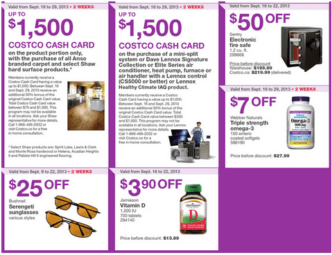 c5 Costco Canada Western Weekly Instant Handouts: British Columbia, Alberta, Saskatchewan & Manitoba, September 16 to 22, 2013