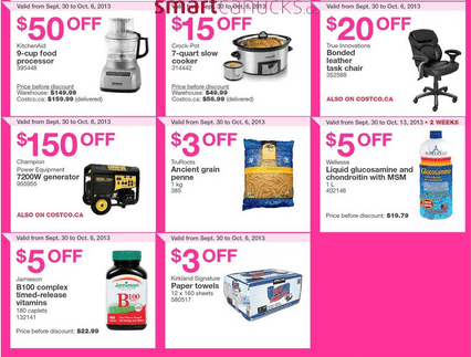 c51 Costco Canada Eastern Weekly Instant Handouts: Quebec September Sunday October 2, 2013